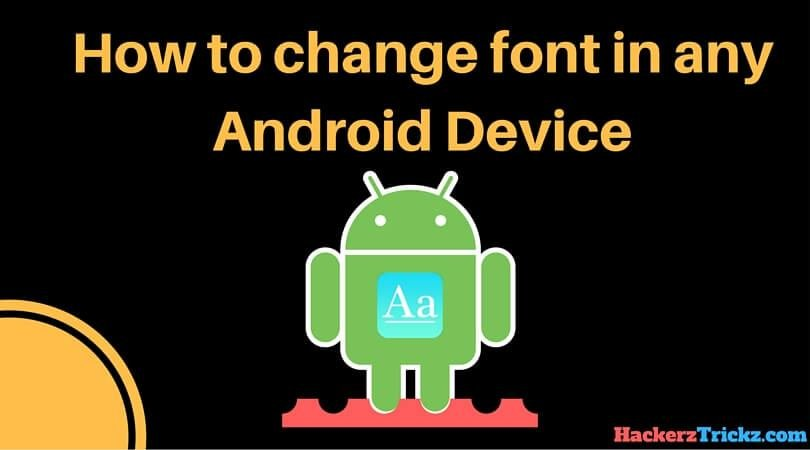 change font in Android