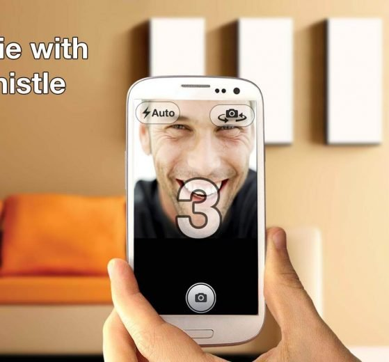 Capture Selfies Just by a Whistle