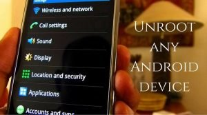 Unroot rooted Android