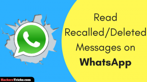 read deleted messages on WhatsApp