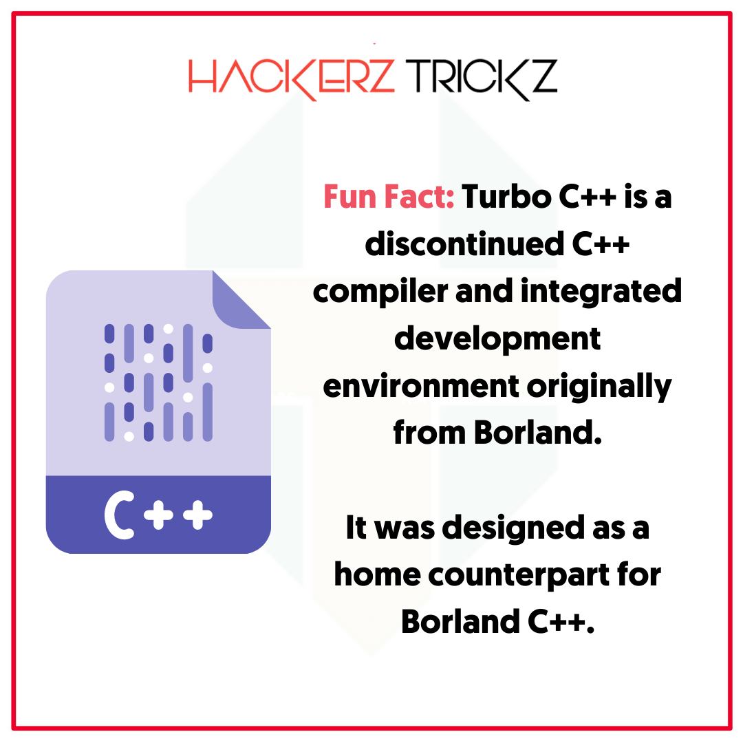 fact about turbo c++