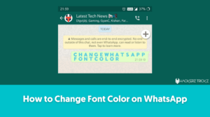 How to Change Font Color on WhatsApp
