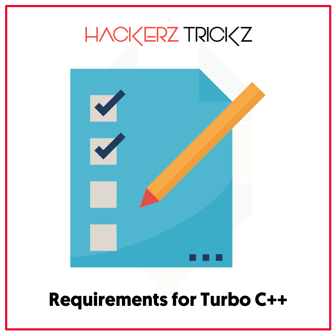 requirements for turbo c++