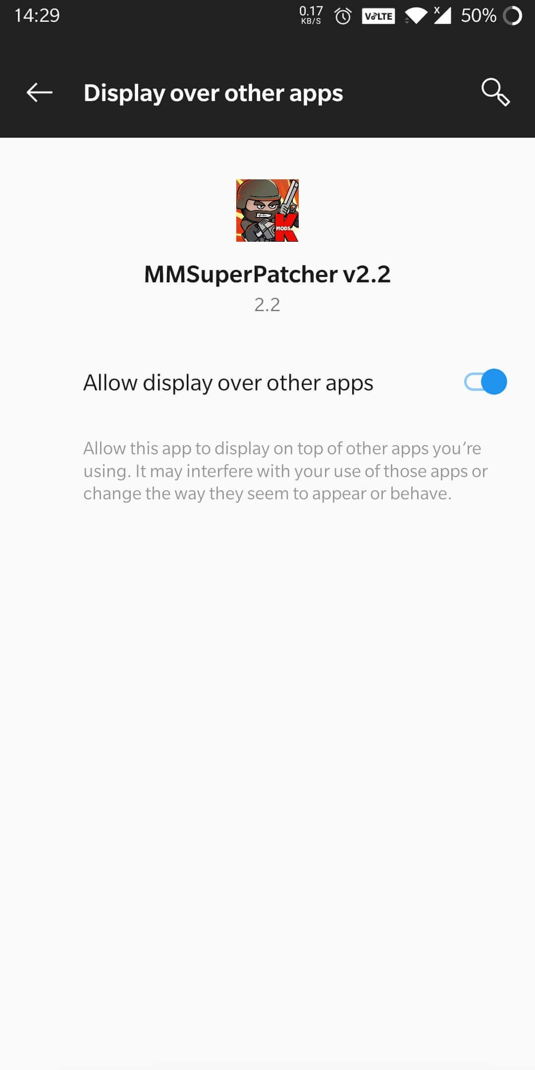 give permission to mmsuperpatcher