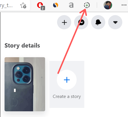 Step 2: how to save someone's facebook story