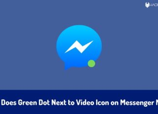 What Does Green Dot Next to Video Icon on Messenger Mean