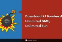 Download RJ Bomber Apk Unlimited SMS, Unlimited Fun