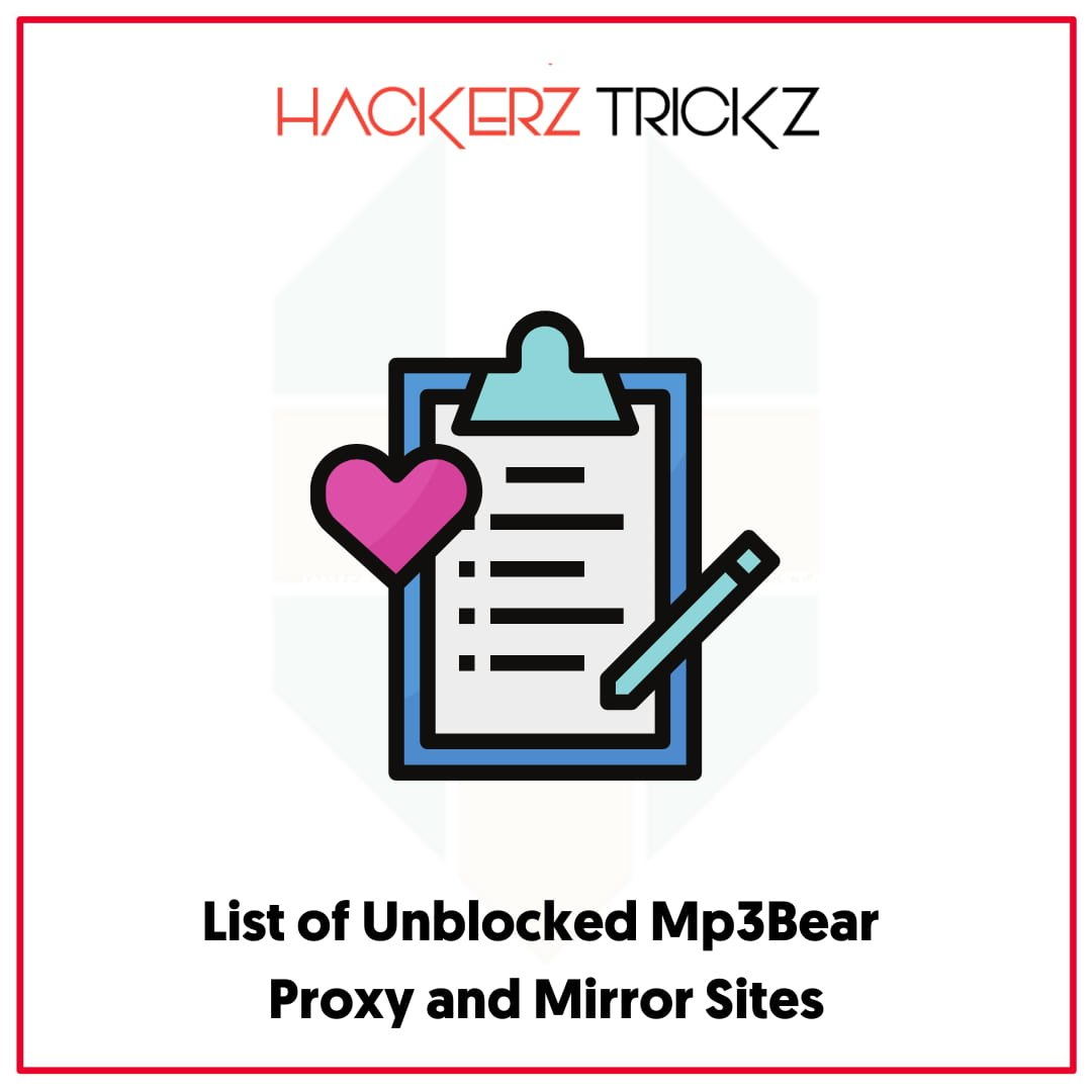 List of Unblocked Mp3Bear Proxy and Mirror Sites
